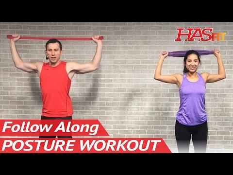 15 Min Better Posture Workout: Fix Posture Correction Exercises Prevent Hunchback Shoulders Kyphosis