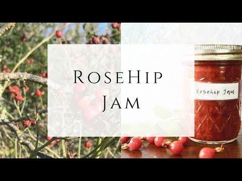 Homemade Rosehip Jam from wild Rose Hips